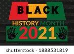 black history month 2021 banner | Shutterstock .eps vector #1888531819
