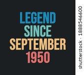 legend since september 1950  ...   Shutterstock .eps vector #1888546600