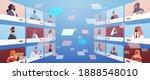 arabic people in web browser... | Shutterstock .eps vector #1888548010