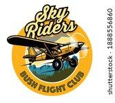 badge design of bush plane club   Shutterstock .eps vector #1888556860