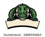Crocodile Mascot Hold The Blank ...