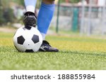 soccer shoes and football in... | Shutterstock . vector #188855984