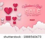 valentine's day sale poster... | Shutterstock .eps vector #1888560673