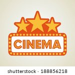 cinema design over beige... | Shutterstock .eps vector #188856218