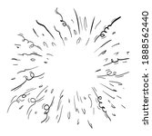 starburst hand drawn. doodle... | Shutterstock .eps vector #1888562440