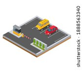isometric car in the parking...   Shutterstock .eps vector #1888563340