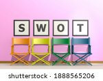 Row Of Chairs With Swot Concept ...