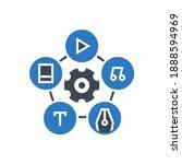 content management related... | Shutterstock . vector #1888594969