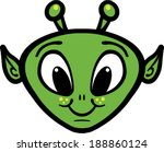 alien head cartoon vector