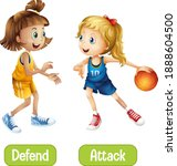 opposite words with defend and...   Shutterstock .eps vector #1888604500