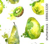 watercolor seamless pattern... | Shutterstock . vector #1888613230