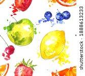 watercolor seamless pattern... | Shutterstock . vector #1888613233