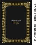 gold ornament on dark... | Shutterstock .eps vector #1888648726