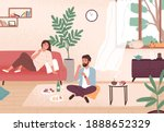 couple enjoy romantic date at... | Shutterstock .eps vector #1888652329