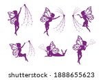 fairy silhouette collection ... | Shutterstock .eps vector #1888655623