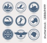 Stock vector wild animals badges eps 188869499
