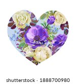 flower s heart. valentine's day ...   Shutterstock .eps vector #1888700980