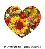 flower s heart. valentine's day ...   Shutterstock .eps vector #1888700986