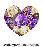 flower heart. valentine's day...   Shutterstock .eps vector #1888700989