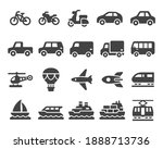 vehicle and transport icon set... | Shutterstock .eps vector #1888713736