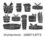 holiday presents  retro glyph... | Shutterstock .eps vector #1888713973