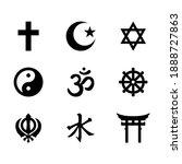 world religious symbols  signs... | Shutterstock .eps vector #1888727863