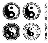set of hand drawn yin yang... | Shutterstock .eps vector #1888738126