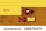 agriculture machinery. top view ... | Shutterstock . vector #1888750579