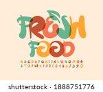 vector trendy logo fresh food... | Shutterstock .eps vector #1888751776