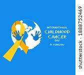 international childhood cancer... | Shutterstock .eps vector #1888752469