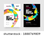 poster design with abstract... | Shutterstock .eps vector #1888769809