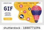 vector website design template .... | Shutterstock .eps vector #1888771096