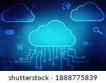 2d illustration of cloud... | Shutterstock . vector #1888775839
