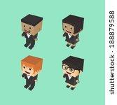 cartoon block character set | Shutterstock .eps vector #188879588