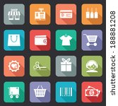 set of colorful purchase icons... | Shutterstock .eps vector #188881208