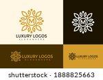 initial letter m luxury logo... | Shutterstock .eps vector #1888825663