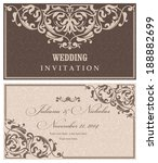 wedding invitation cards ... | Shutterstock .eps vector #188882699