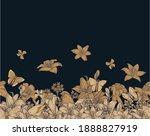 lily flowers. seamless frame.... | Shutterstock . vector #1888827919