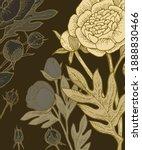 peony  rose flowers. background ... | Shutterstock .eps vector #1888830466