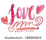 handwritten love script. love...   Shutterstock .eps vector #188883824