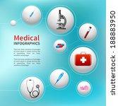 medical pharmacy ambulance... | Shutterstock .eps vector #188883950