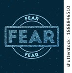 fear. glowing round badge.... | Shutterstock .eps vector #1888846510