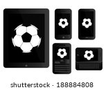mobile devices with football... | Shutterstock . vector #188884808