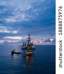 Aerial View Offshore Drilling...