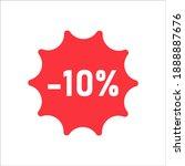 10 Percent Sale Sticker...