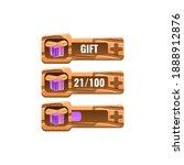 set of wooden game ui reward...