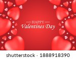 valentine's day with hearts... | Shutterstock .eps vector #1888918390
