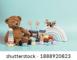 Kids toys collection. teddy...
