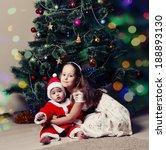 little girl and her little... | Shutterstock . vector #188893130