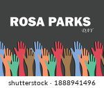 rosa parks day is a holiday in...   Shutterstock .eps vector #1888941496